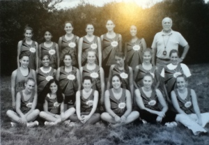 My XC Team - I'm the one on the bottom right wearing pants. Because I didn't run that day. Because I was lame.