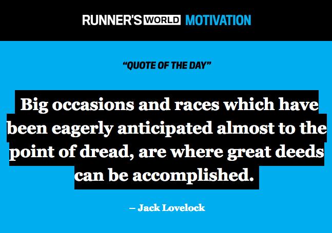 Runner's World QOTD